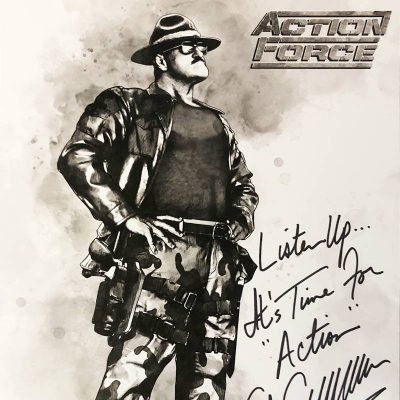 Action Force Sgt Slaughter Signed Joefest Exclusive Print