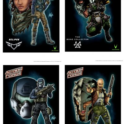 Action Force Character Art Print 4-Pack