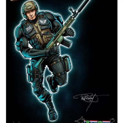 Action Force Exclusive Ron Rudat Signed Print