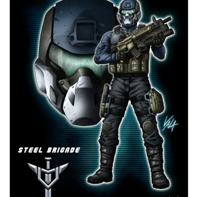 Action Force Steel Brigade Art Print