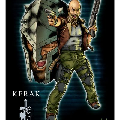 Action Force Kerak Art Print